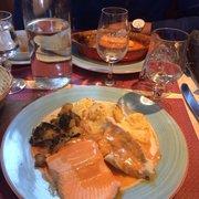 Assiette du chef bar et truite saumonée…