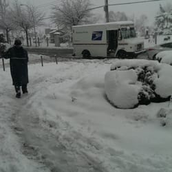 United States Post Office - New York, NY, États-Unis. Snow mail
