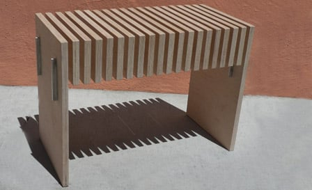 Plywood bench