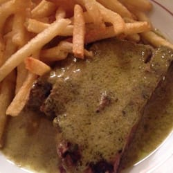 Steak frites (half portion, as the other…