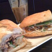 Spicy Duck Banh Mi and Iced Coffee