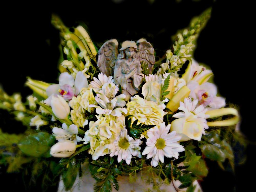 Angel Sympathy Bouquet $125 | Yelp