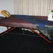 Massagebank. Hier werden Aroma Ölmassage…
