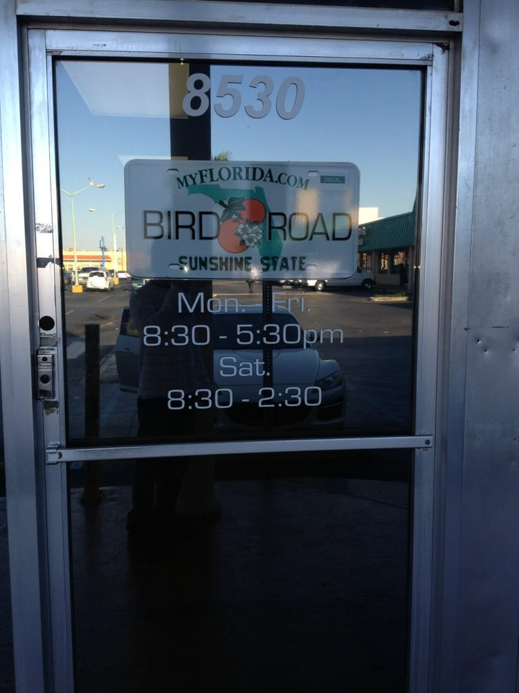 Bird Road Auto Tag Agency Departments Of Motor Vehicles 8530 Sw 40th St Miami Fl