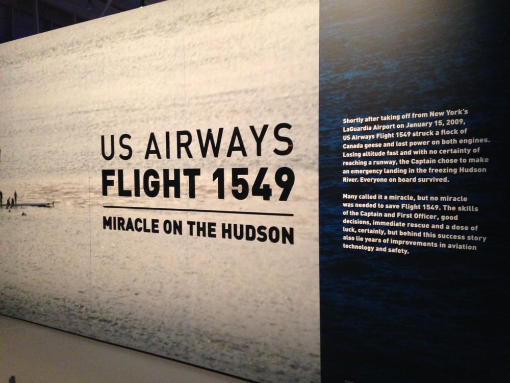 Carolinas Aviation Museum - Charlotte, NC, United States. Miracle on the Hudson Display