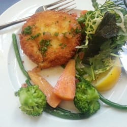 Salmon chive cakes!