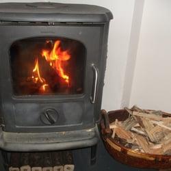 An kalten Tagen mit Kaminfeuer