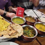 Delicious curries, naan & rice