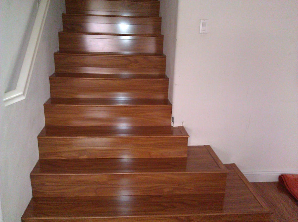 Laminate stairs yelp for Hardwood floors on stairs
