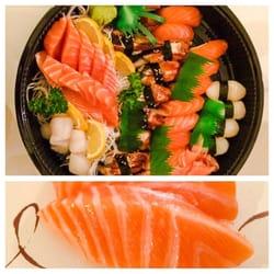 Lawrence fish market 50 tray salmon sashimi salmon for Lawrence fish market menu