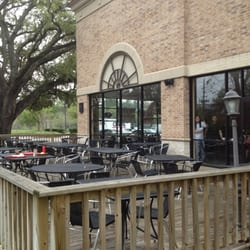 backyard cafe grill patio seating area houston tx united