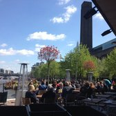 Looking out from the outdoor patio. Tate Modern in the background.