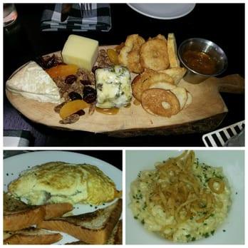 Cheese plate sampler; The Hogan omelet (mushroom duxelle & fontina ...