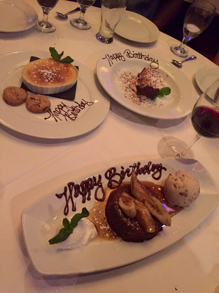 3 free birthday desserts they light the bananas foster on for Wild fish scottsdale az