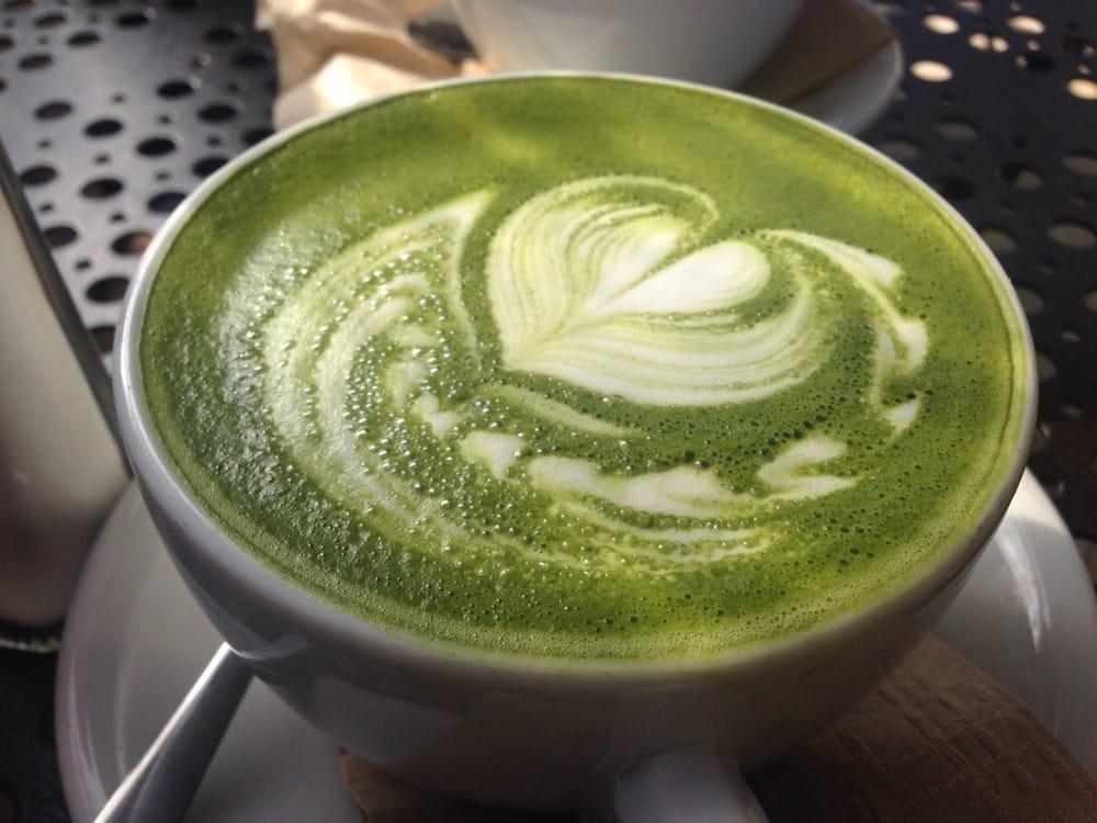 Morrocan mint green tea latte & green tea boba | Yelp