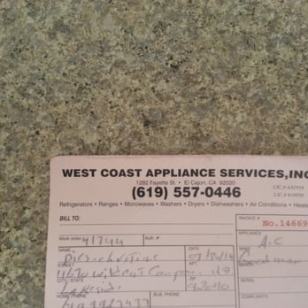 West Coast Appliance Services Inc Heating Air