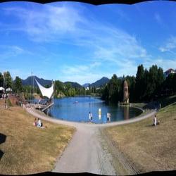 Biergarten Seepark, Freiburg, Baden-Württemberg