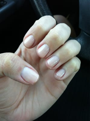 Instyle Nails - OPI gel manicure in bubblegum. Too light but a good