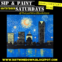 sip and paint saturdays lesson van gogh 39 s starry night