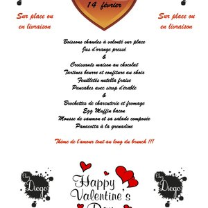Brunch Saint Valentin