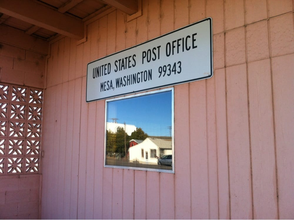 US Post Office: 111 First Ave, Mesa, WA