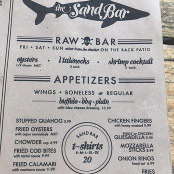 Sandbar Restaurant West Dennis Ma