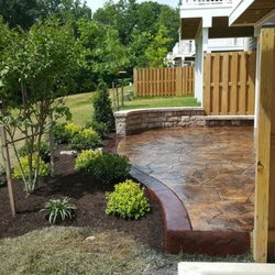 Photo Of Green Lady Landscape Design And Masonry   Springfield, VA, United  States. Stamped Concrete Patio ...