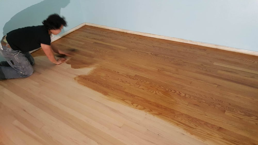 Vin Sanded And Stained Our Original Hardwood Upstairs To ...