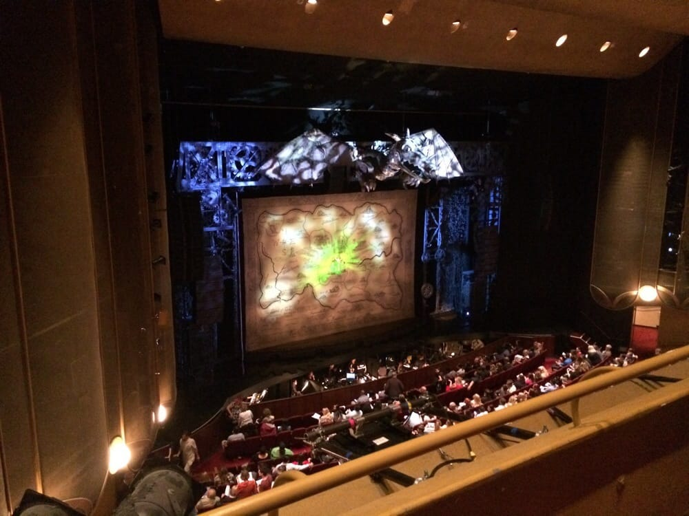 View from balcony row 2 seat 54 for wicked yelp for The balcony music