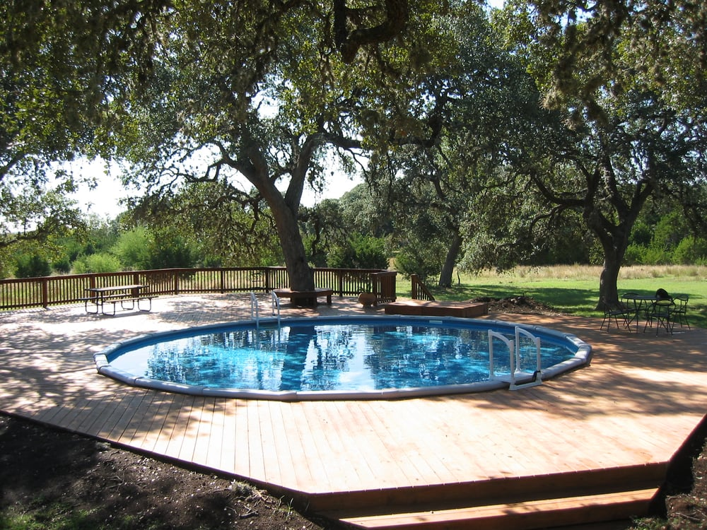 Above Ground Pools Can Be Quot Recessed Quot Into The Ground Yelp