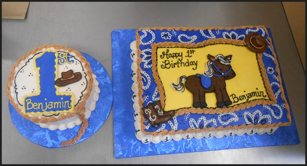 Cowboy Themed 1st Birthday Cake And Smash Cake Yelp