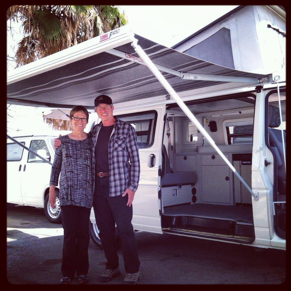 Happy Campers with their restored Eurovan Full Camper Yelp