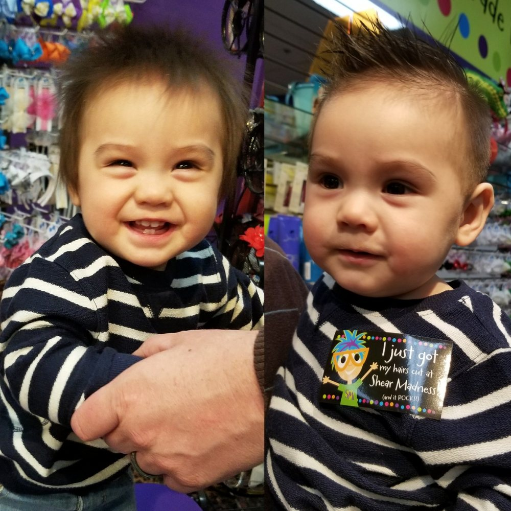 Before And After Photos From Anthonys 1st Haircut Haircut By