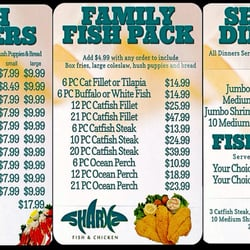 Sharks fish chicken chicken wings 3659 hickory hills for Jr fish and chicken menu