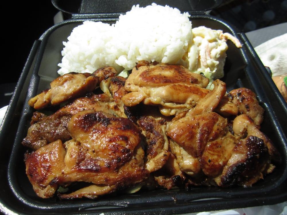 Hawaiian bbq chicken plate   Yelp