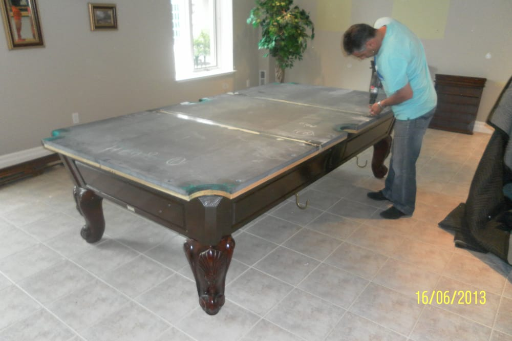 We Move GTA Disassembling And Moving A Pool Table Yelp - Pool table moving equipment
