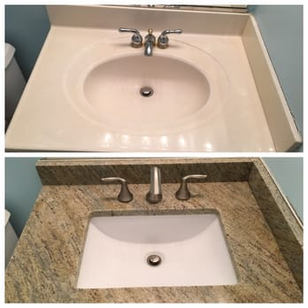 Photo Of Granite Works Countertops   Rockville, MD, United States. Before  And After