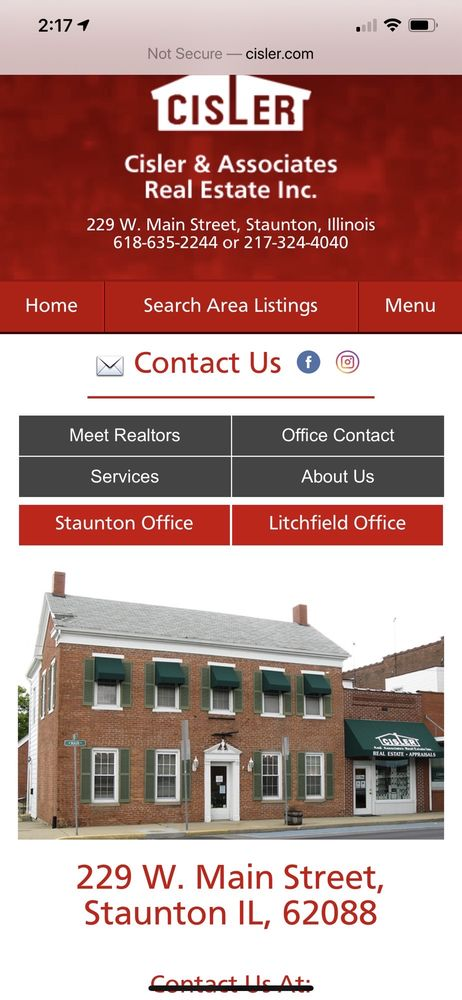 Cisler & Associates Real Estate: 229 W Main St, Staunton, IL
