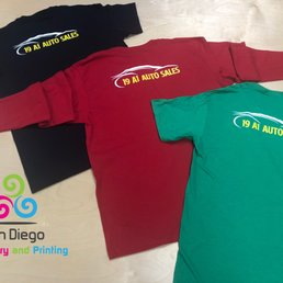 4ea6a627 Photo of San Diego Embroidery and Printing - Chula Vista, CA, United  States. Screen Printing for your Business Apparel!