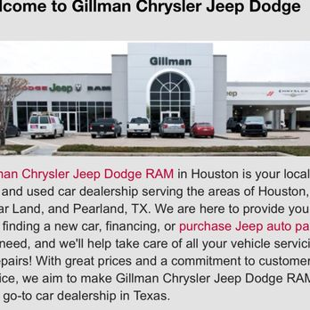 Charming Photo Of Gillman Chrysler Jeep Dodge Ram   Houston, TX, United States