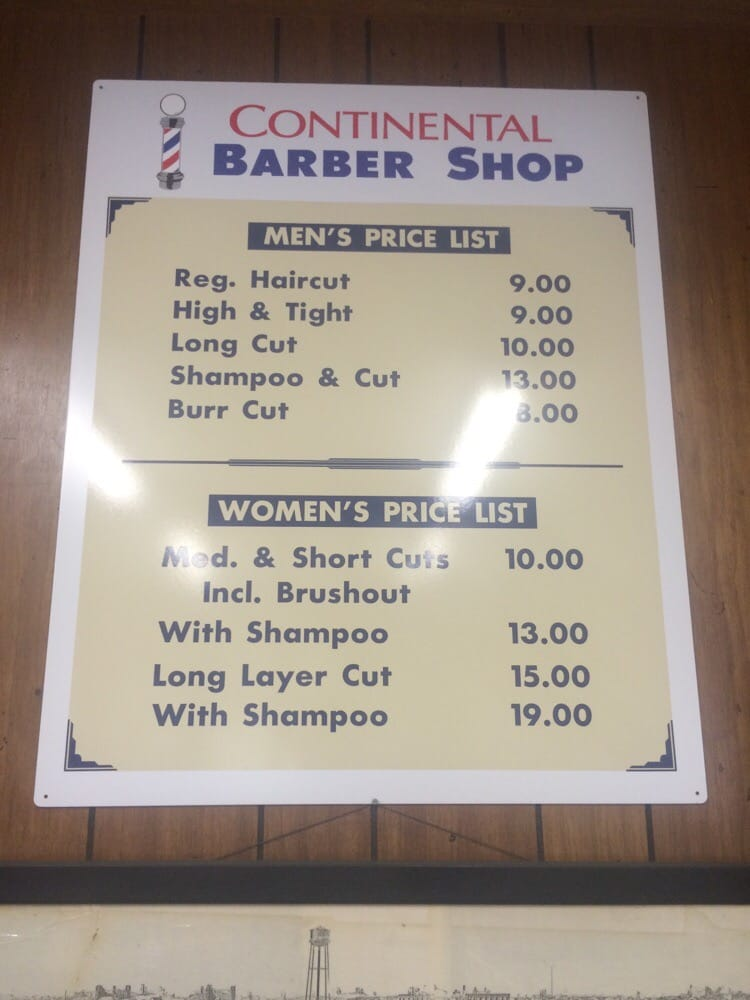 Continental Barber Shop: 204 S Mickey Mantle Blvd, Commerce, OK