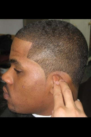 how to line up sideburns