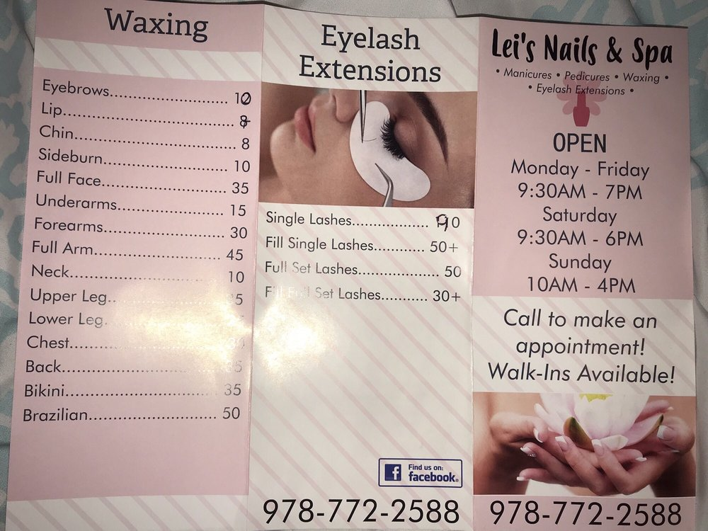 Lei's Nails & Spa: 60 W Main St, Ayer, MA
