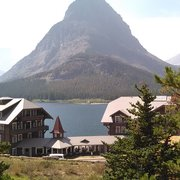 Sunset 9 Photo Of Many Glacier Hotel Swiftcur Lake Mt United States View