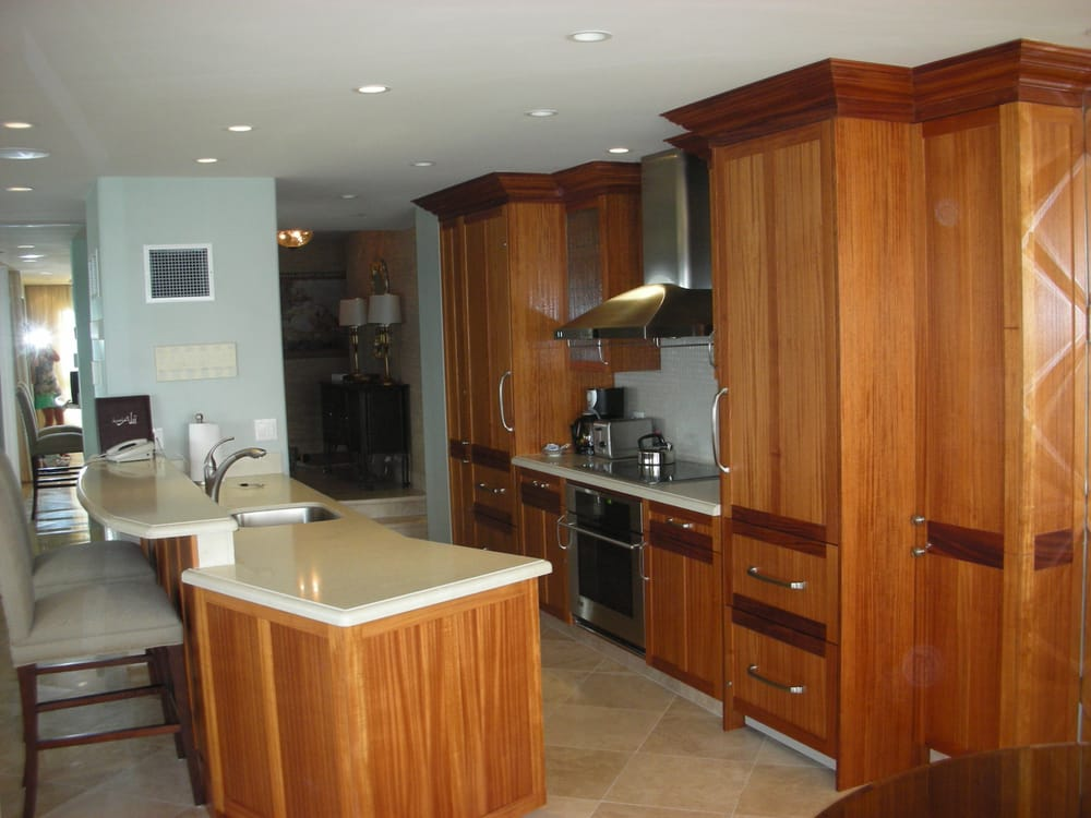 African mahogany kitchen cabinets for condo remodel yelp for Kitchen design yelp