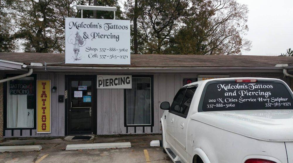 Malcolm's Tattoos & Piercings: 202 N Cities Service Hwy, Sulphur, LA
