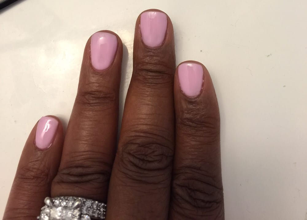Thin Acrylic overlay with soft pink gel polish - Yelp