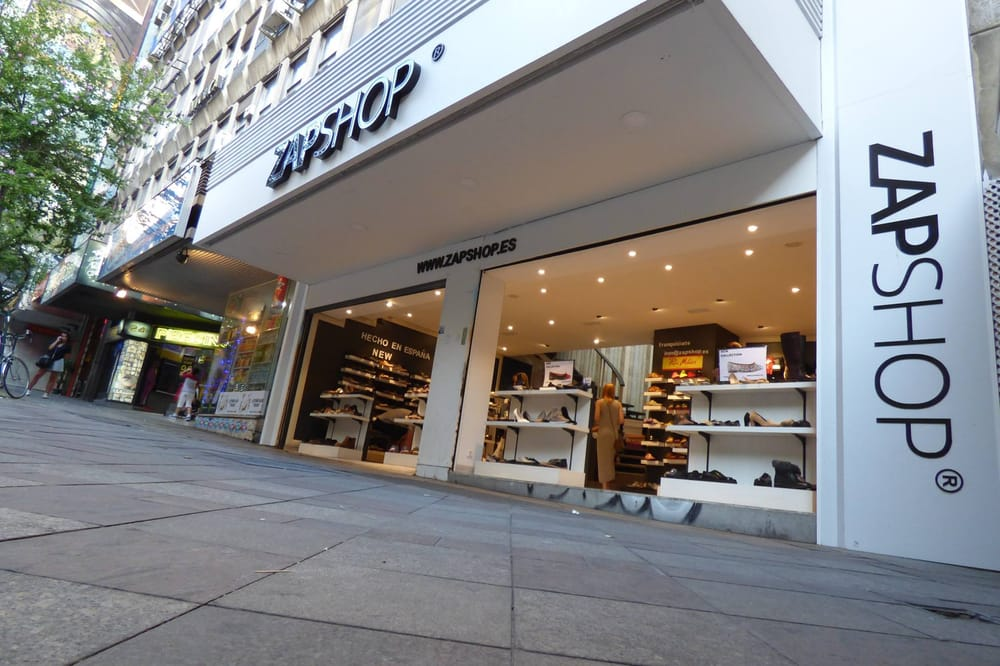 Zapshop shoe shops calle montera 24 sol madrid for Calle sol madrid
