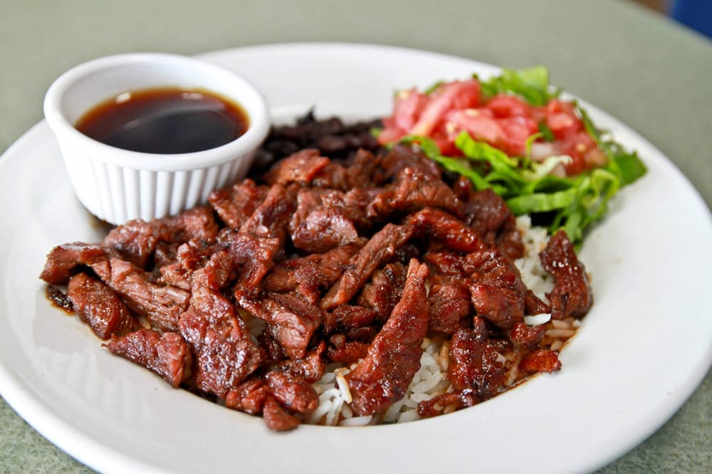 Maui bowl teriyaki marinated carne asada steak wahoo 39 s for Fish bowl maui