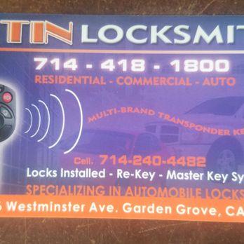 Photo Of Tin Locksmiths Garden Grove Ca United States